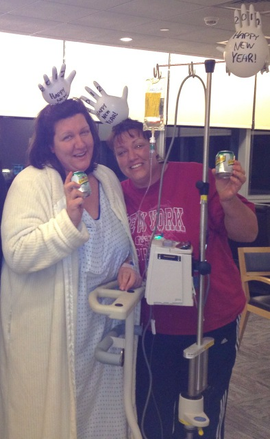 Each with cancer, twins keep upbeat attitude