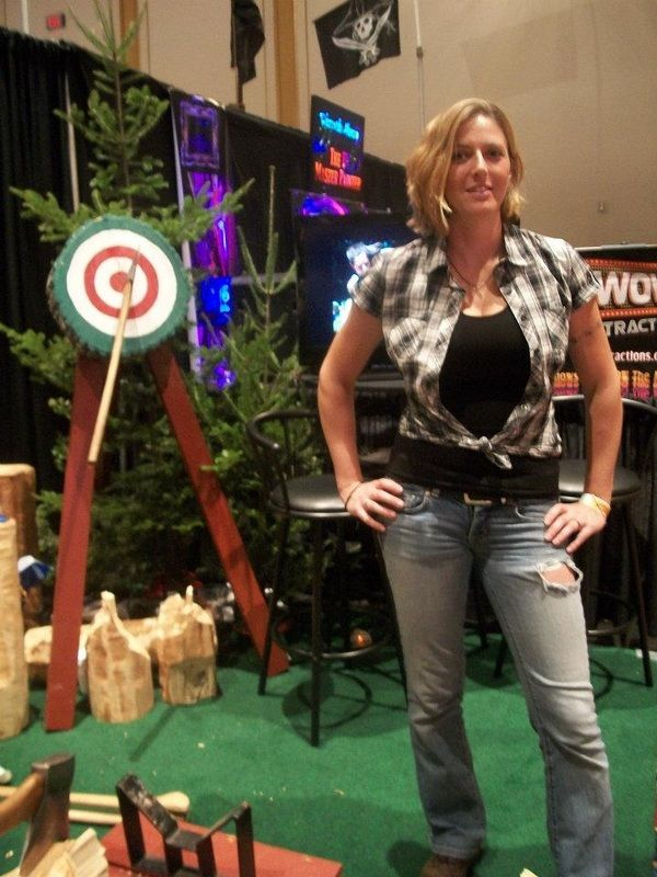 Axe women loggers: Serious competitors