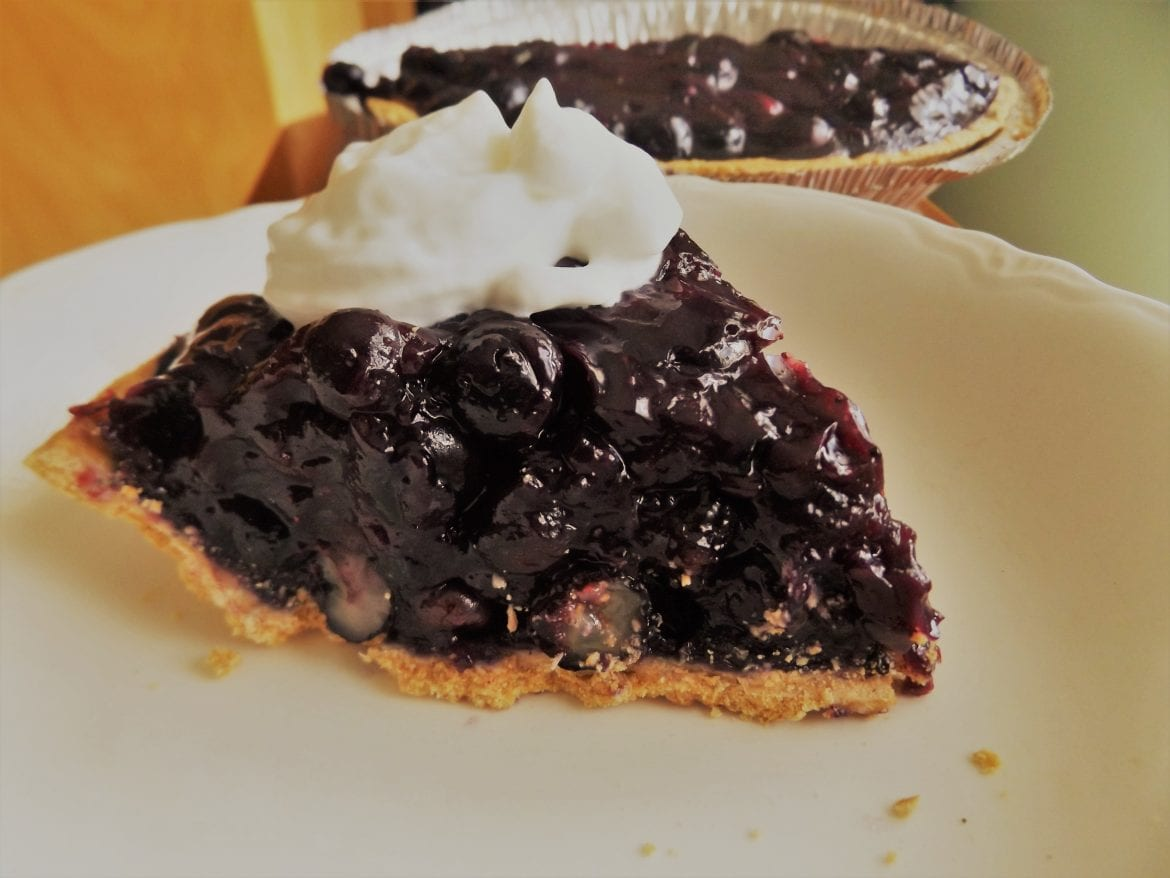 Love on a Plate: Open-faced Maine Blueberry Pie